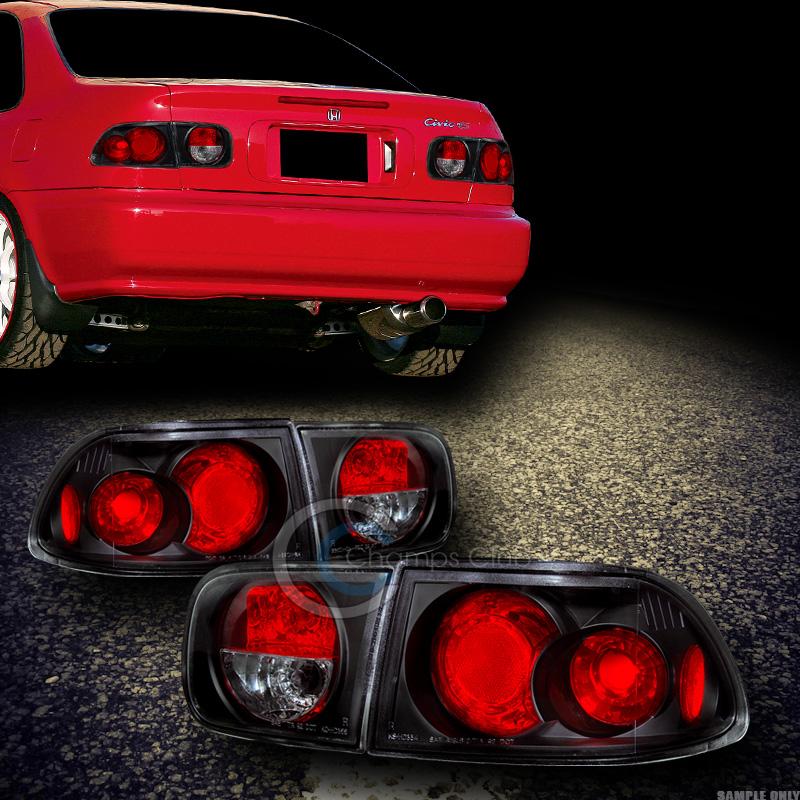 Jdm Black Sport Altezza Tail Lights Lamps 1992 1995 Civic