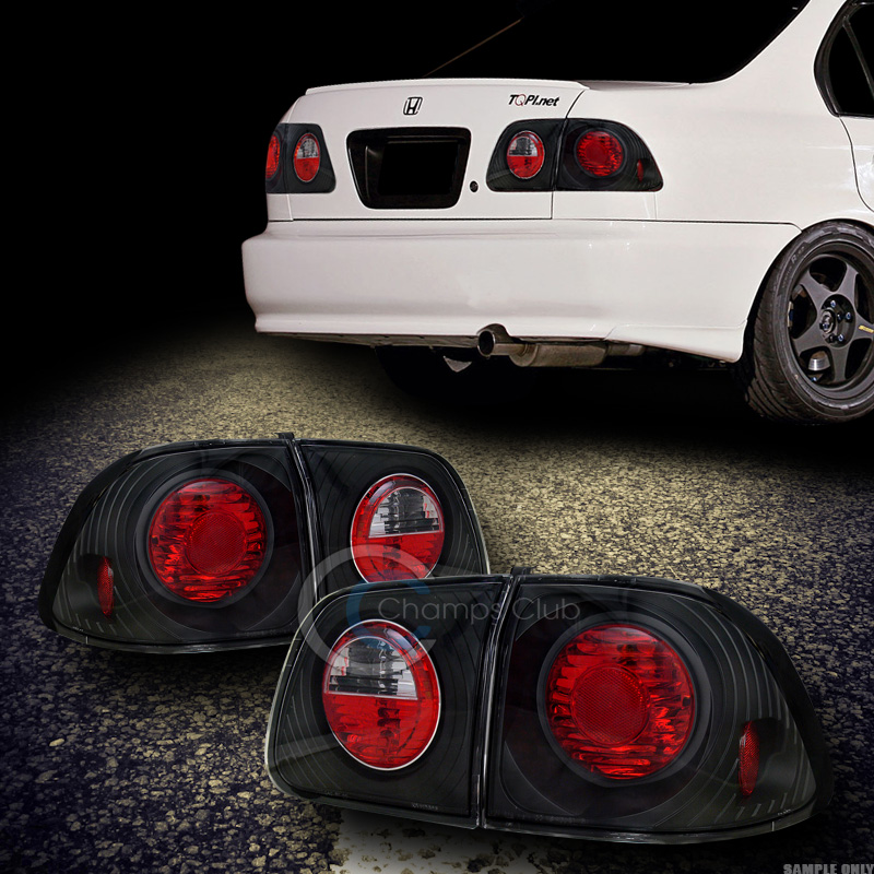 JDM BLACK SPORT Altezza Tail Lights Brake Lamps Pc Civic - 1999 acura integra tail lights