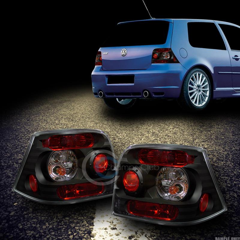 Euro Black Altezza Tail Lights Rear Brake Lamps Ks 99 04