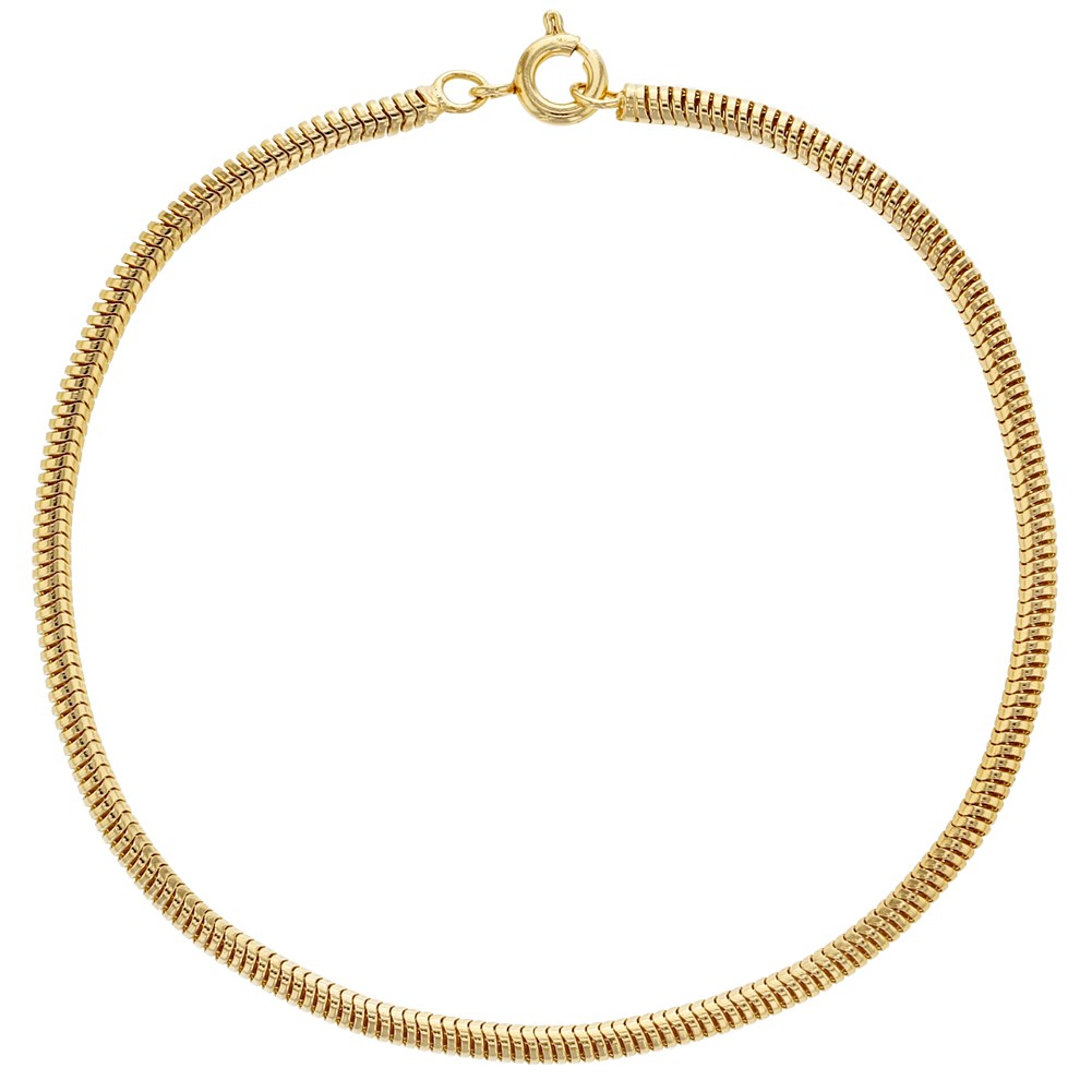 Thin Gold Chain Bracelet: 18k Gold Plated Thin Mesh Snake Chain Women Bracelet 7.5