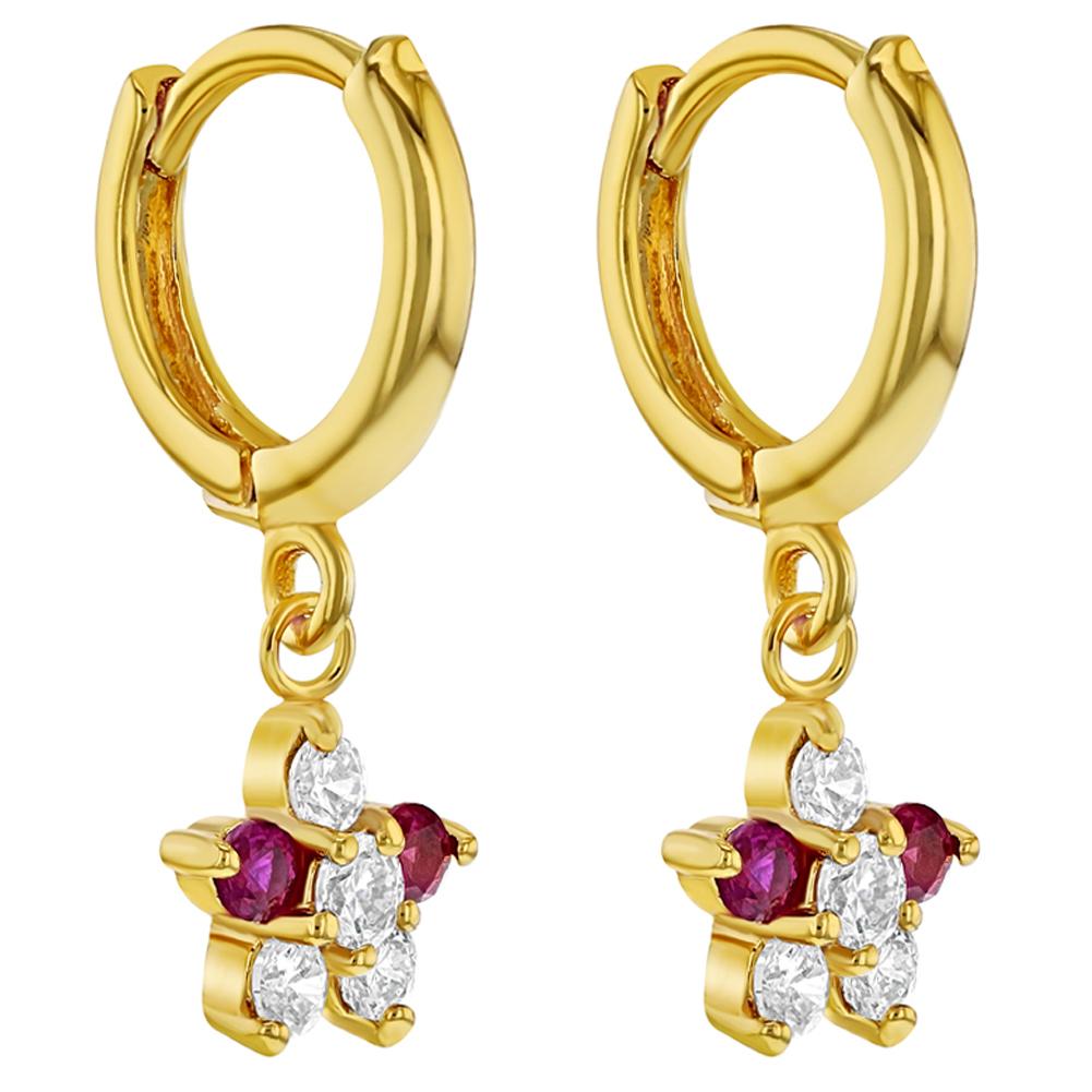 Femmes Mode Multi-couleur zircon CZ cubique transparent Dangle Boucles d/'oreilles pendantes bijoux