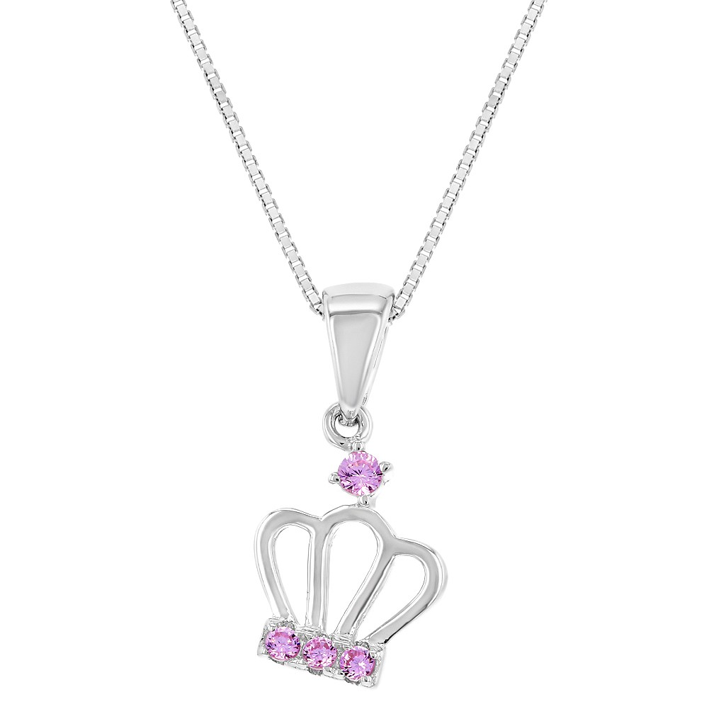 queen necklace sterling with products crown silver and my of heart charm