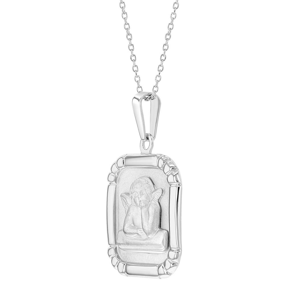 Pour enfant En argent sterling 925-40,6/cm Collier avec m/édaille dange gardien Protection religieuse