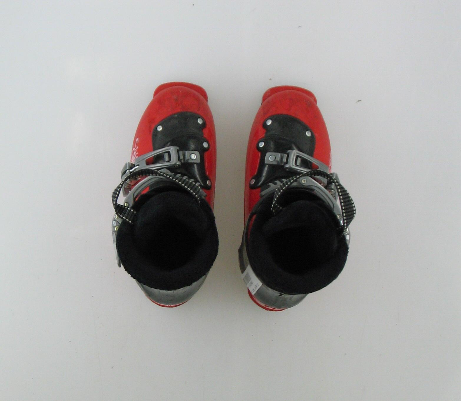 Used Salomon 2 Buckle Red And Black Ski Boots Toddler Size