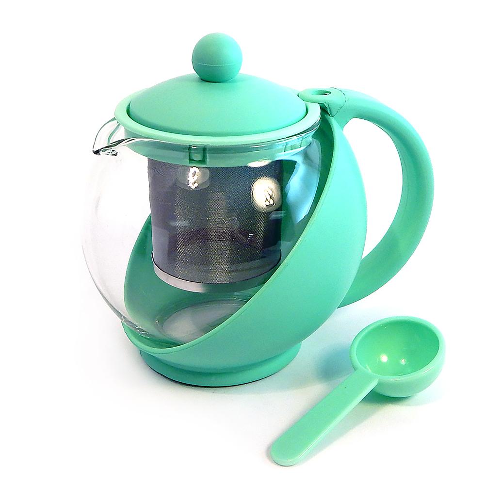 Service Ideas Mocha Tea Press .6 Liter Removable Basket Liner Pot Model TB600CC