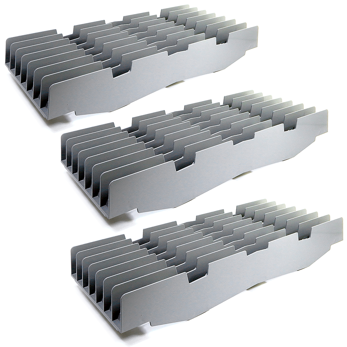 NEW CASE OF 3 Cambro Drying Shelf Rack 7 Slots Gray ABS Camshelving CSDR73151