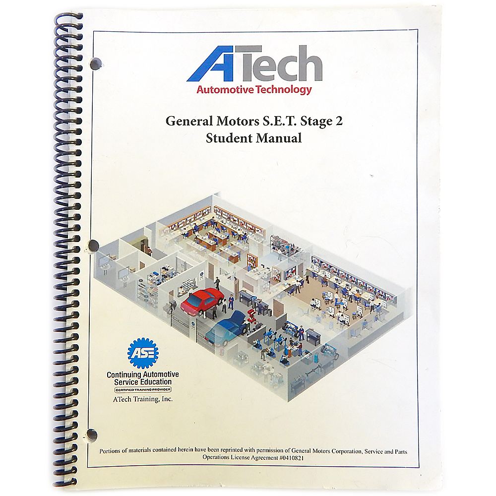 Atech General Motors Set Stage 2 Student Manual 1800312 1 Ase