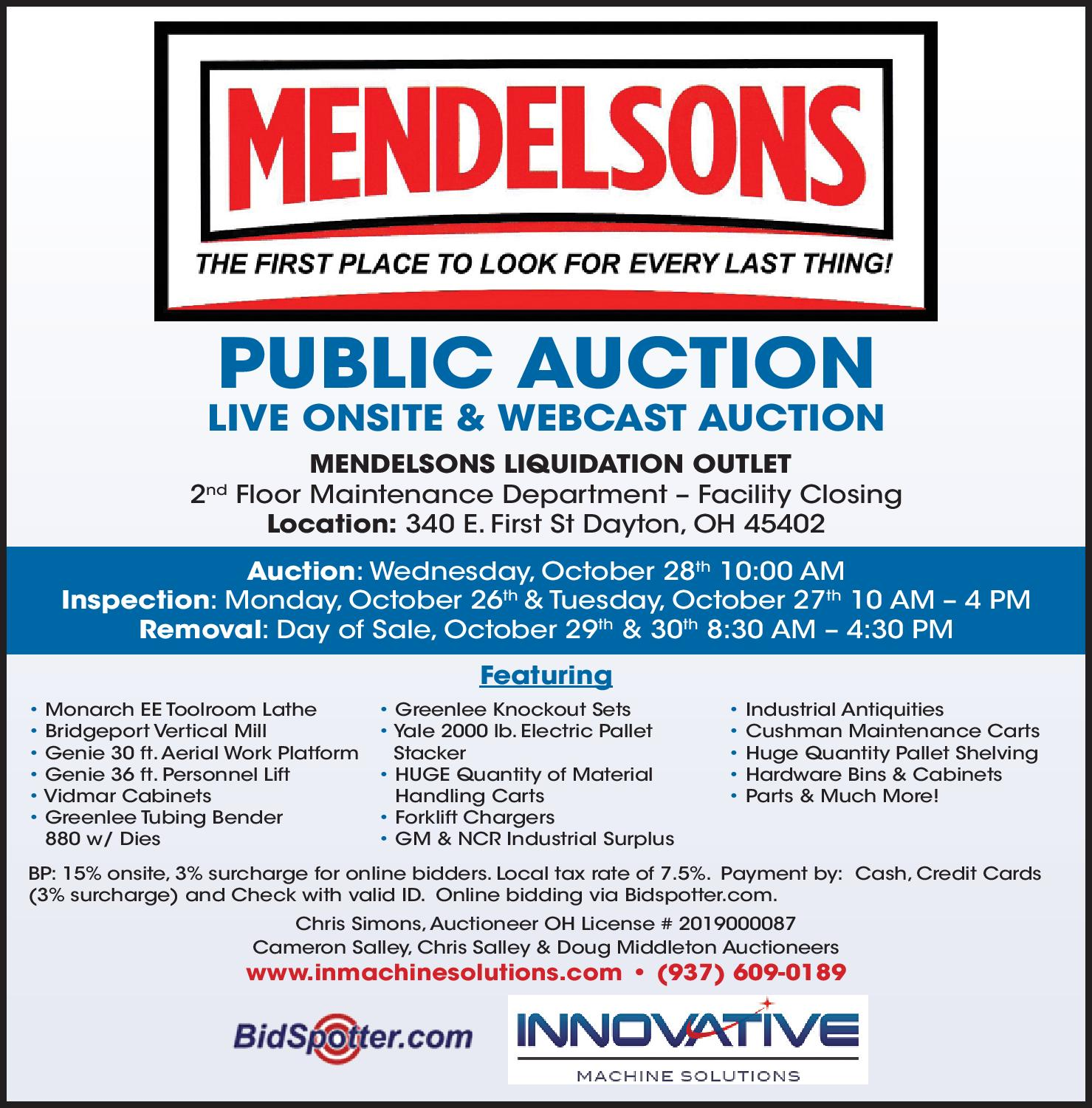 Mendelsons Auction