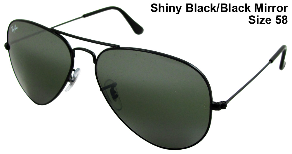0a3724954fb Ray Ban Large Frame Aviator Black Mirror « Heritage Malta