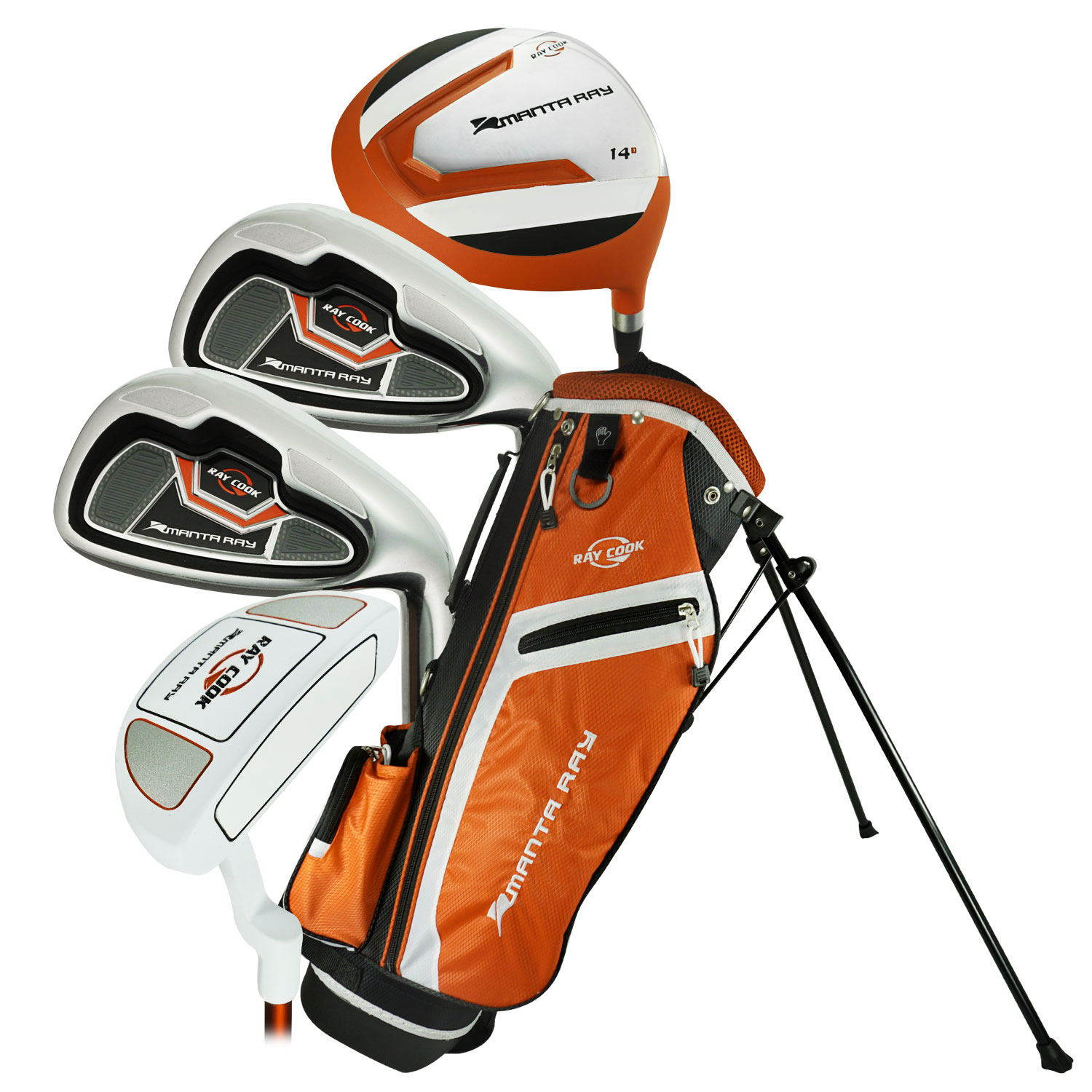 Ray Cook Golf 2017 Manta Ray 5-Piece Junior Set with Bag Ora