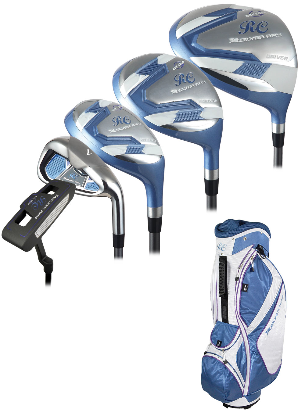 Womens Left Handed Golf Clubs >> Ladies Ray Cook Golf Silver Ray Complete Set W Bag