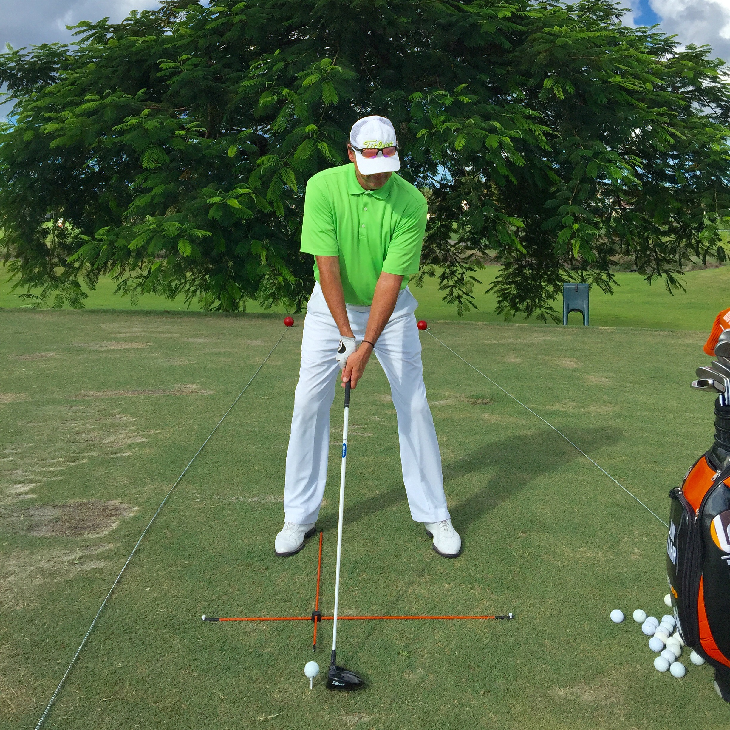 and mirror training green aids t practice golf alignment b swing putting