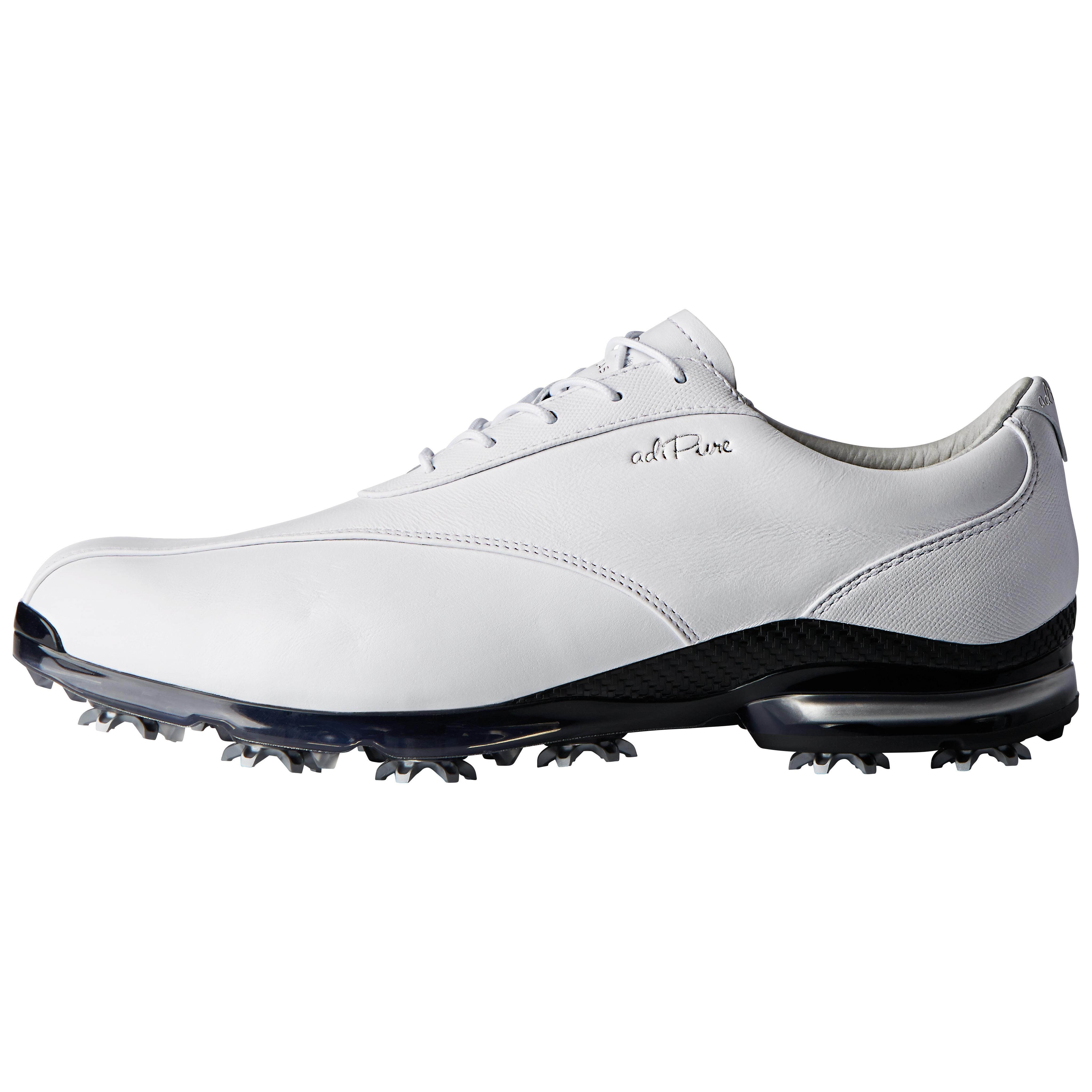 Adidas Adipure Classic Golf Shoes Famous Brand White Silver Metallic AD2565