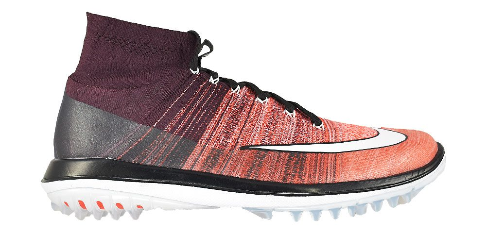 cf3986a6b9ed Details about New Nike Golf- Flyknit Elite Shoes Deep Burgundy White-Max  Orange Size 11M