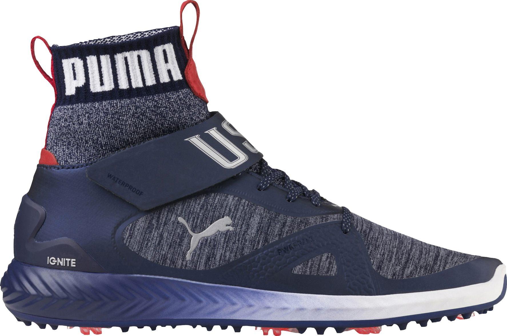 separation shoes fd4e9 5cad7 Puma Golf Limited Edition Ryder Cup Ignite PWRADAPT Hi-Top Team USA Shoes    RockBottomGolf.com