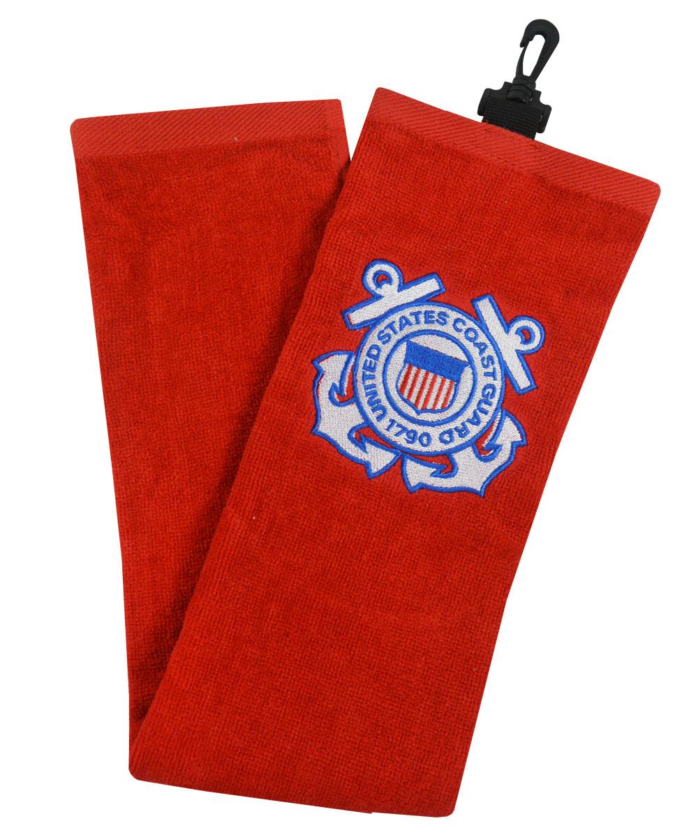 Hot Z Golf Us Military Tri Fold Towel Coast Guard image