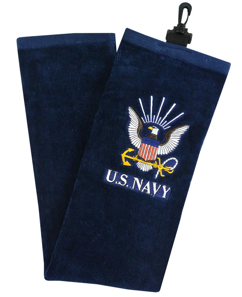 Hot Z Golf Us Military Tri Fold Towel Navy image