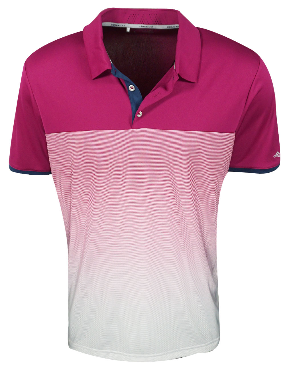 2020a002 Adidas Golf- Climachill Gradient Stripe Polo