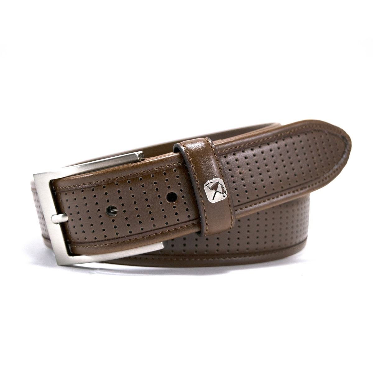 2cb52e40a59 Arnold Palmer Golf- Perforated Feather Edge Belt