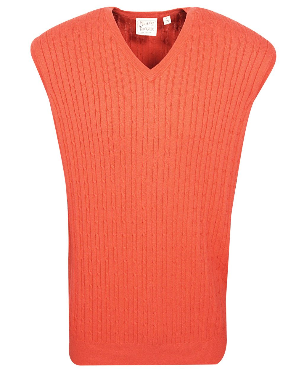 Mcilhenny Golf Cable Knit V Neck Sweater Vest image