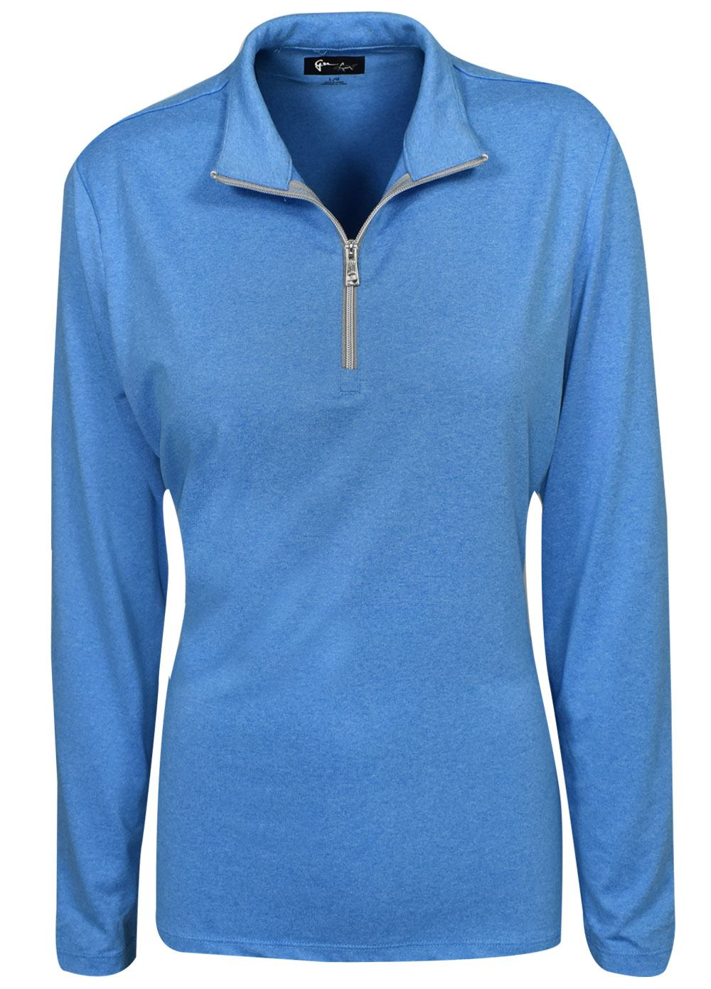 Greg Norman Golf- Ladies Heathered 1 4 Zip Pullover fd437253a9e