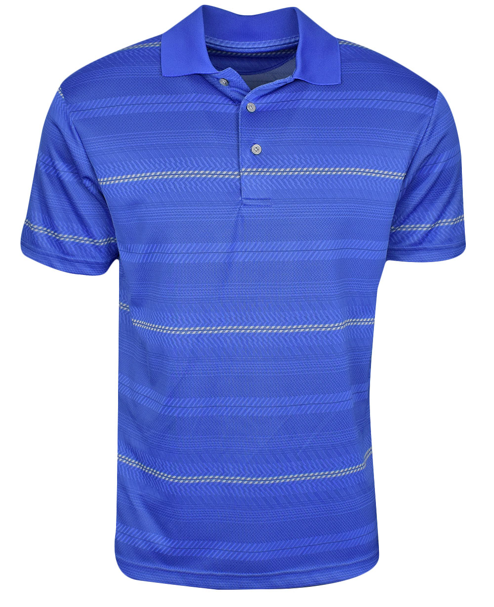 a1ae682b8e74 PGA Tour Golf- Big   Tall Roadmap Energy Jacquard Stripe Polo