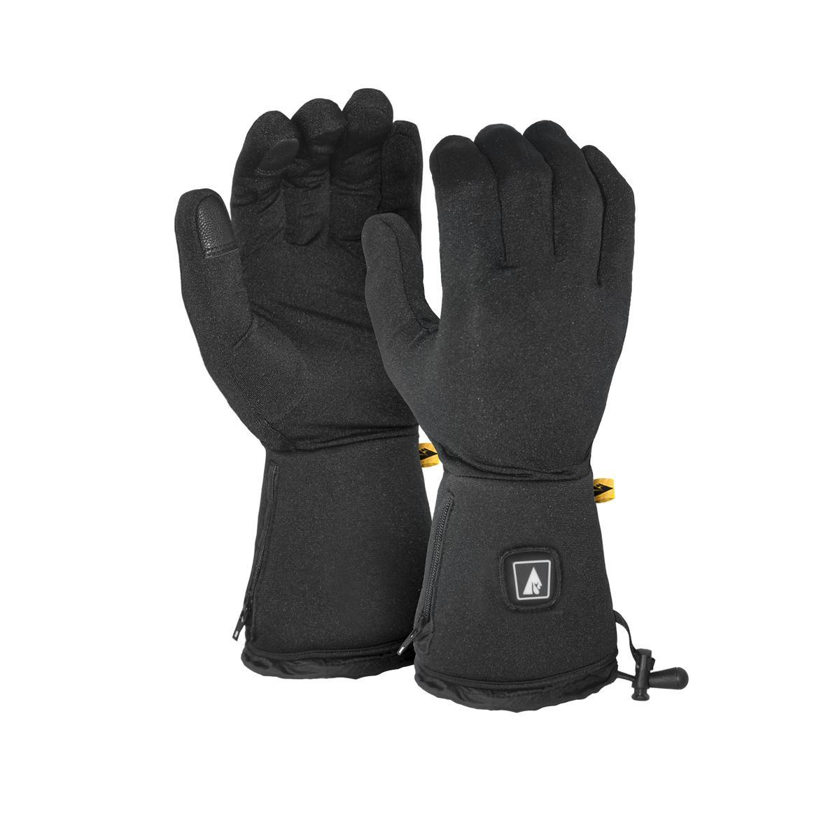 The ActionHeat Battery heated Glove Liners are perfect for all outdoor activities to keep the hands warm. They are made of highly elastic polyester and adhere closely to a hand. The heating element spread on the entire glove will evenly distribute the hea