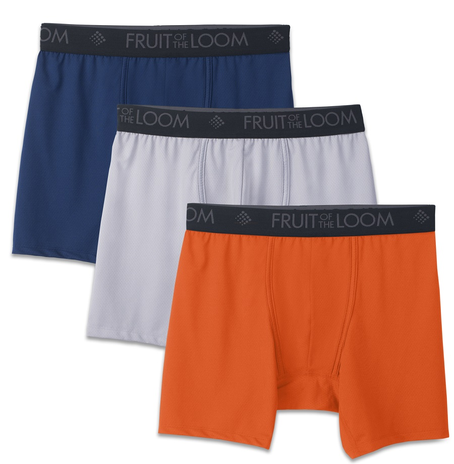 fdcaf193 Fruit of the Loom 3-Pack Breathable Lightweight Micro Mesh Boxer Briefs    RockBottomGolf.com