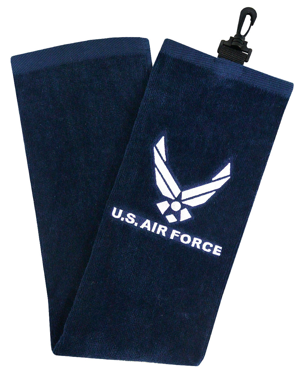 Hot Z Golf Military Tri Fold Towel Us Air Force image