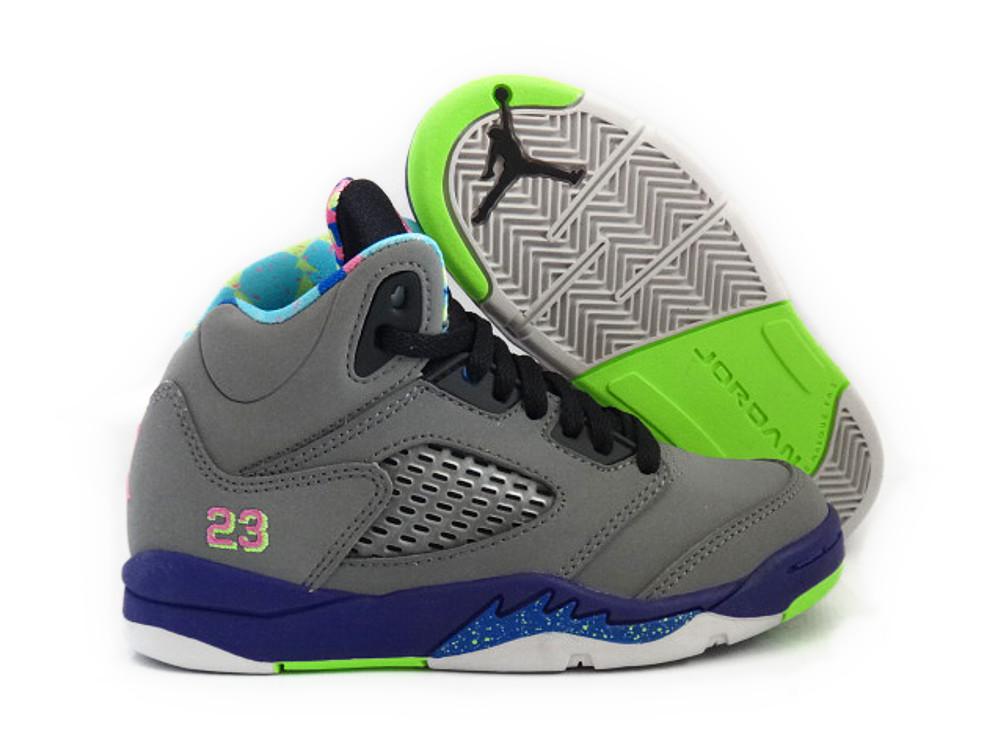 "Jordan Retro 13 Purple: [440889-090] Air Jordan 5 Retro ""Bell Air"" GREY PINK"