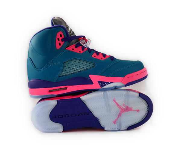 Little Kids Teal Basketball Shoe