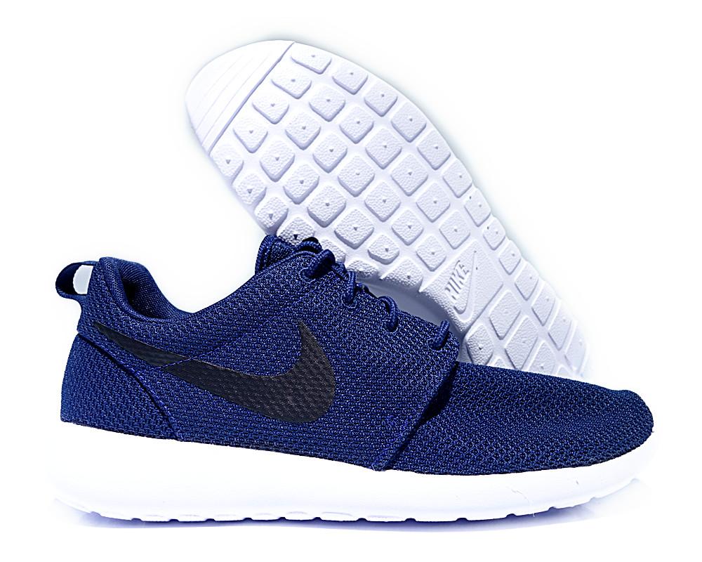 4397d9e1690 511881-405  Nike Roshe One Da Meia-Noite Azul Marinho Tênis ...