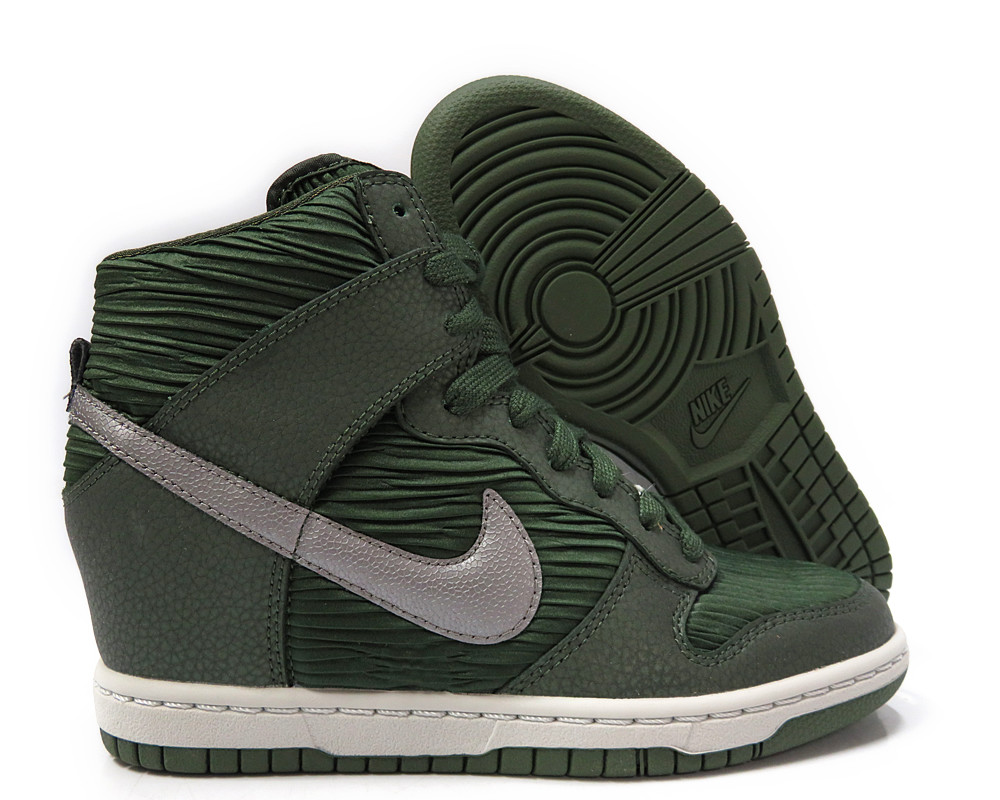 online retailer 908a8 3d196 sweden womens dunk sky hi essential nike 68865 f0e0e  where can i buy  carbon green nike wedge sneakers 2278b d0229