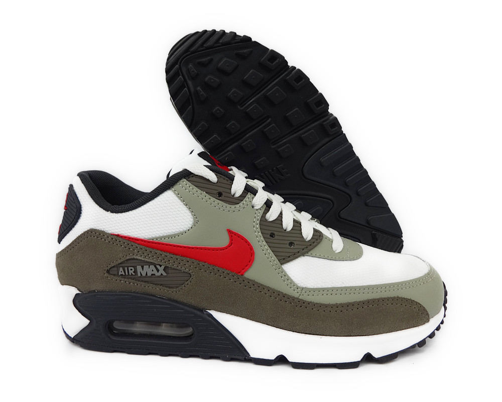 nike air max 90 essential summit white red green mens. Black Bedroom Furniture Sets. Home Design Ideas