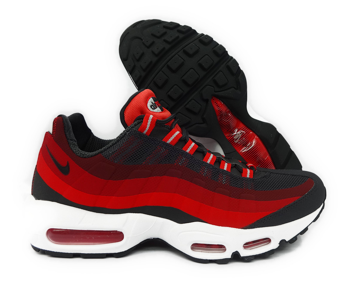 nike air max 95 no sew anthracite crimson red mens running. Black Bedroom Furniture Sets. Home Design Ideas