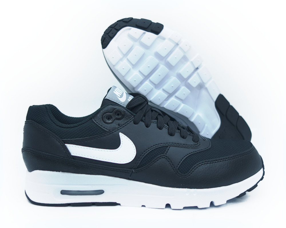 [704993-007] NIKE AIR MAX 1 ULTRA ESSENTIALS BLACK WHITE STEALTH WOMEN Sz 6.5