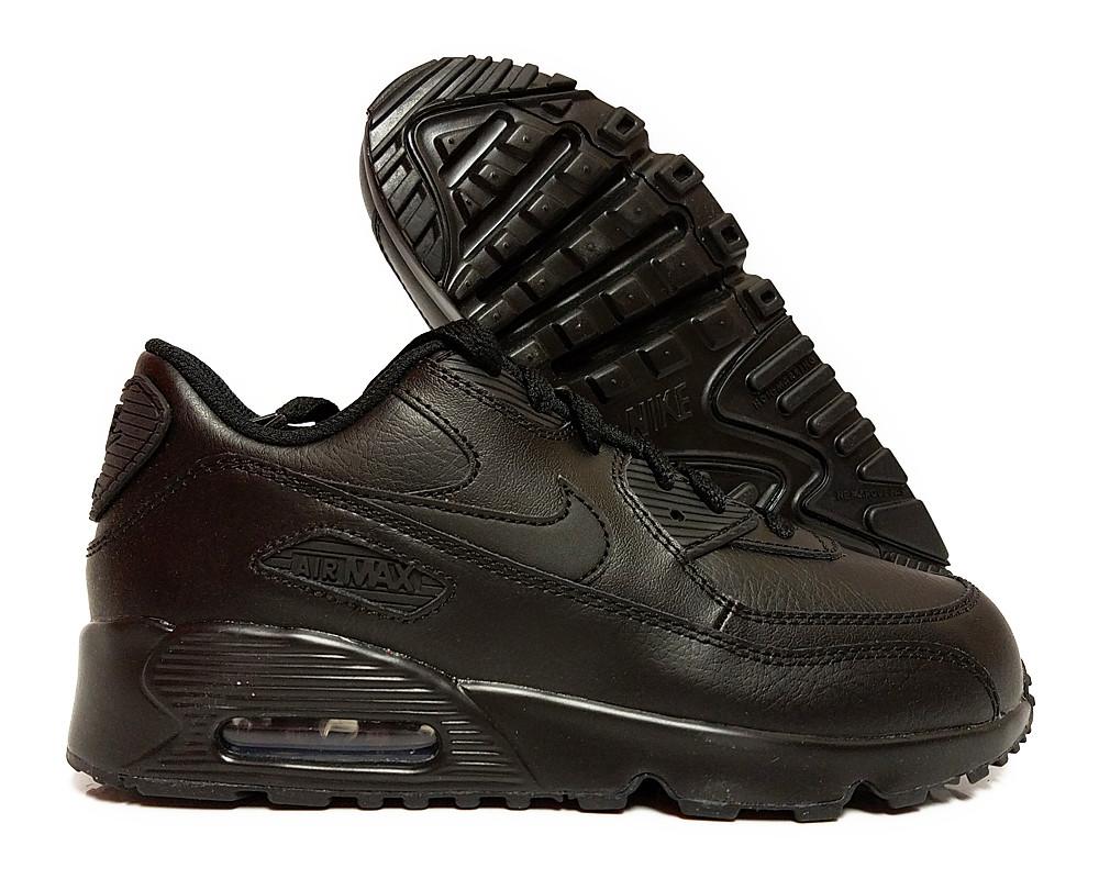 on sale 6b7a8 0a46a  833414-001  Nike Air Max 90 Ltr Black Preschool Sneakers Size 11.5