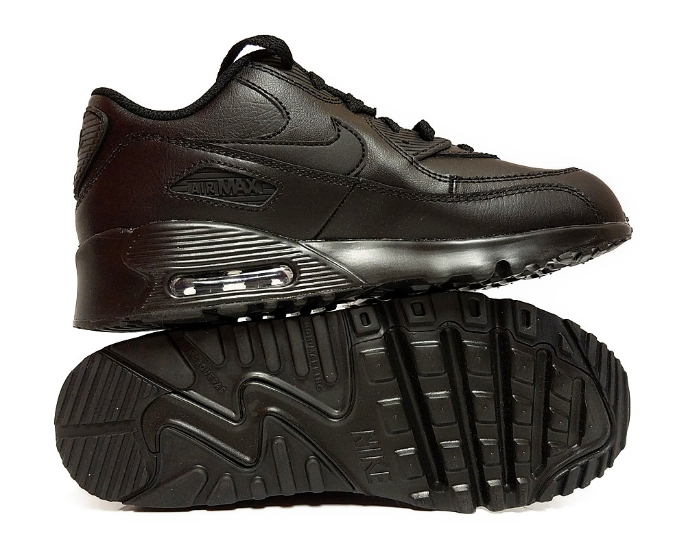 finest selection d8dae b42b7  833414-001  Nike Air Max 90 Ltr Black Preschool Sneakers Size 11.5 4 4 of  4 See More