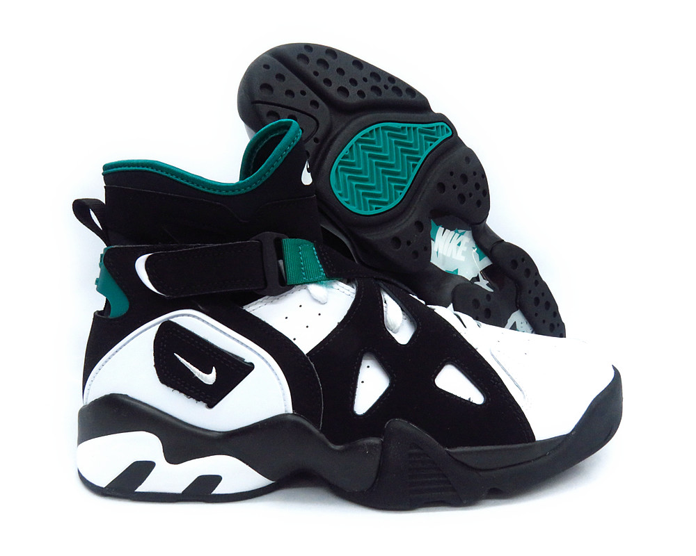 [889013-001] NIKE AIR UNLIMITED RETRO BLACK WHITE EMERALD MEN SNEAKERS Sz 11