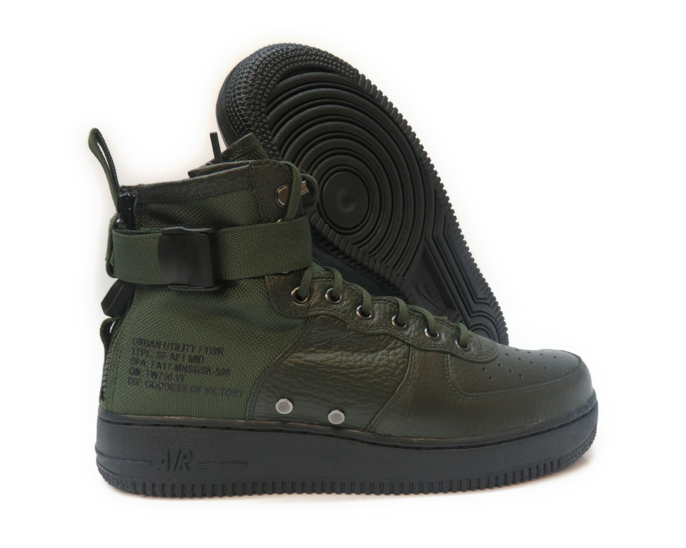 [917753-300] NIKE SF AF1 MID SEQUOIA BLACK MEN SNEAKERS Sz 10.5