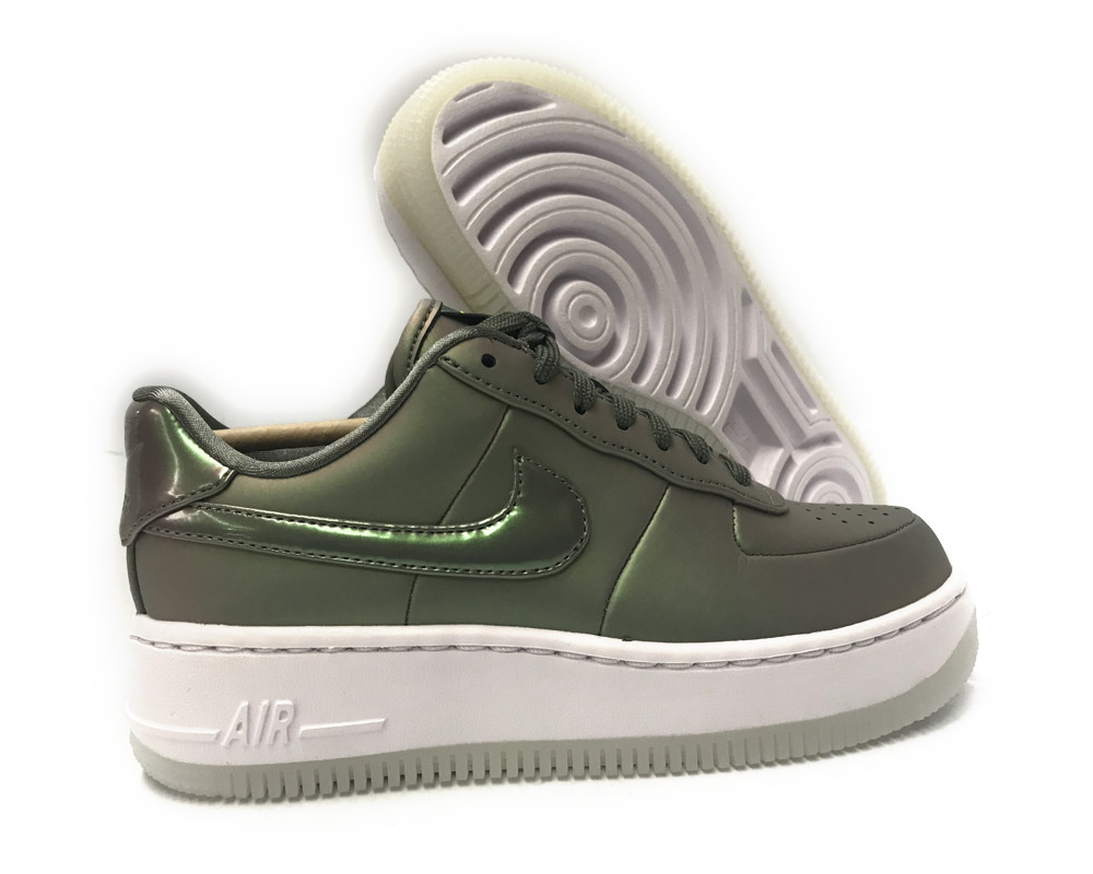 aa3964 001] nike air force 1 upstep premio lx buio stucco donne