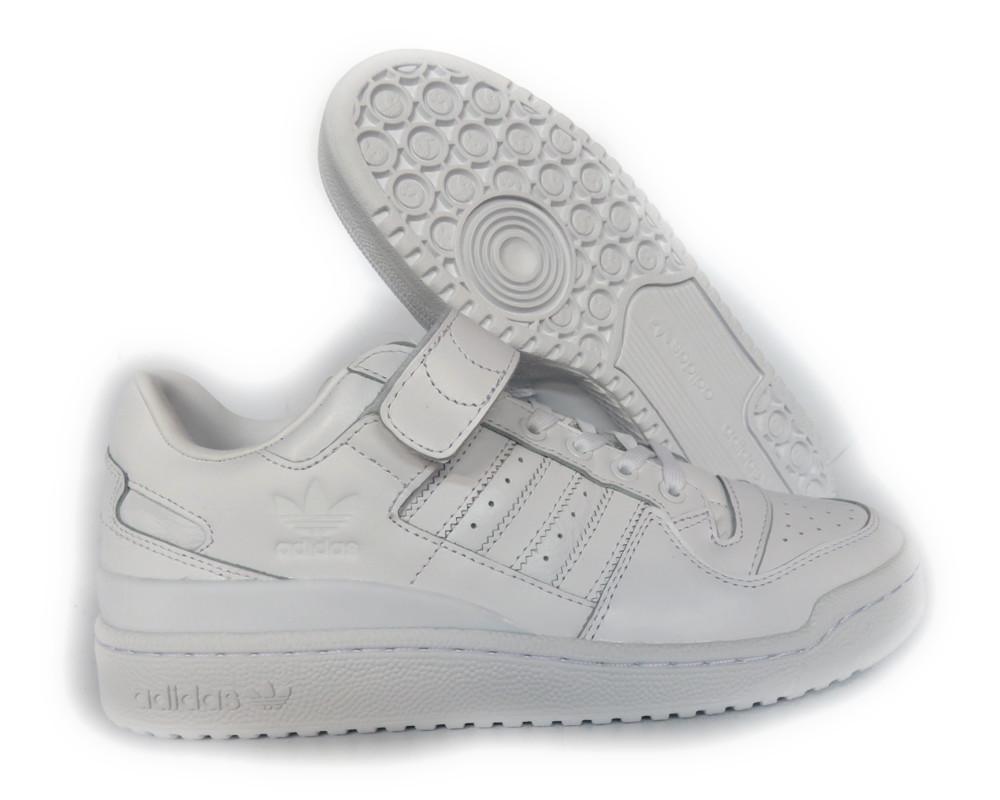 Ba7276] adidas Originals Forum lo refinado triple hombres zapatillas blanco
