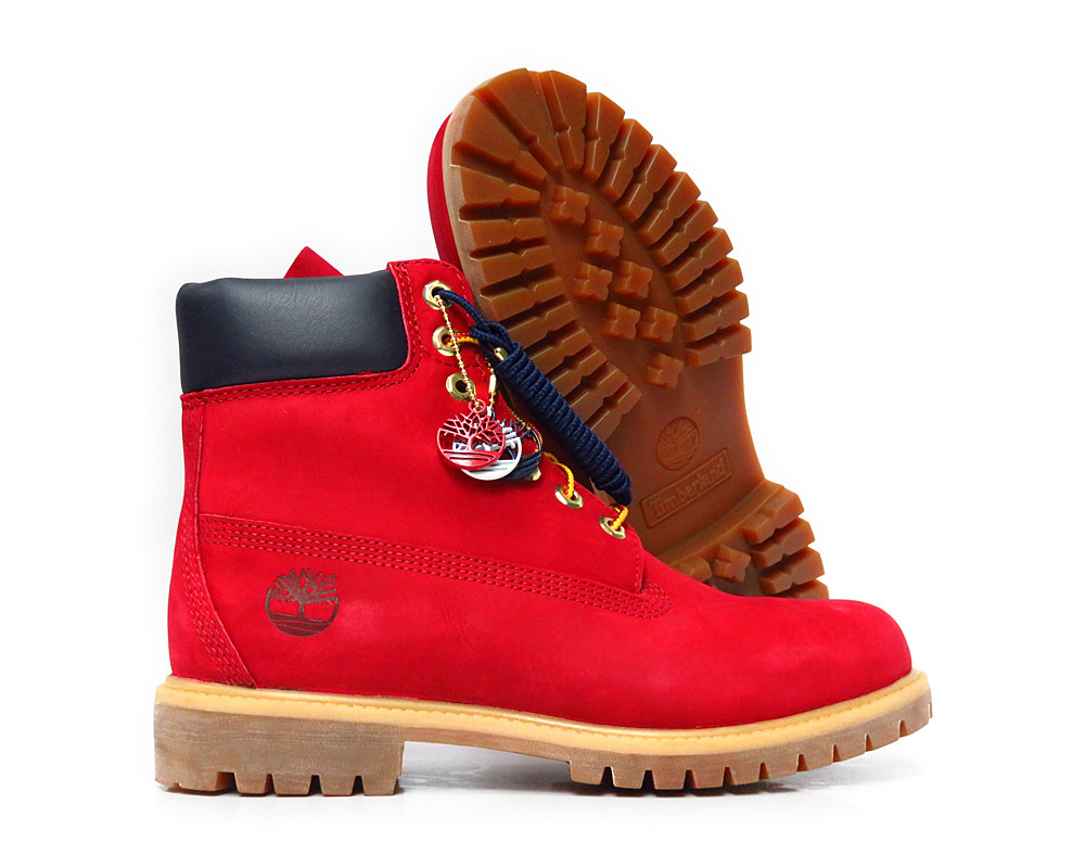 [TB0A1FNH] TIMBERLAND 6 INCH PREMIUM RED MENS BOOTS SIZE 10.5