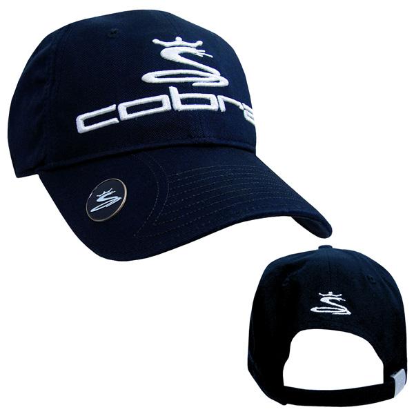 8b89b8493bb Cobra Golf Tour Cap New Era Ball Marker Navy Hat Clip on PopScreen
