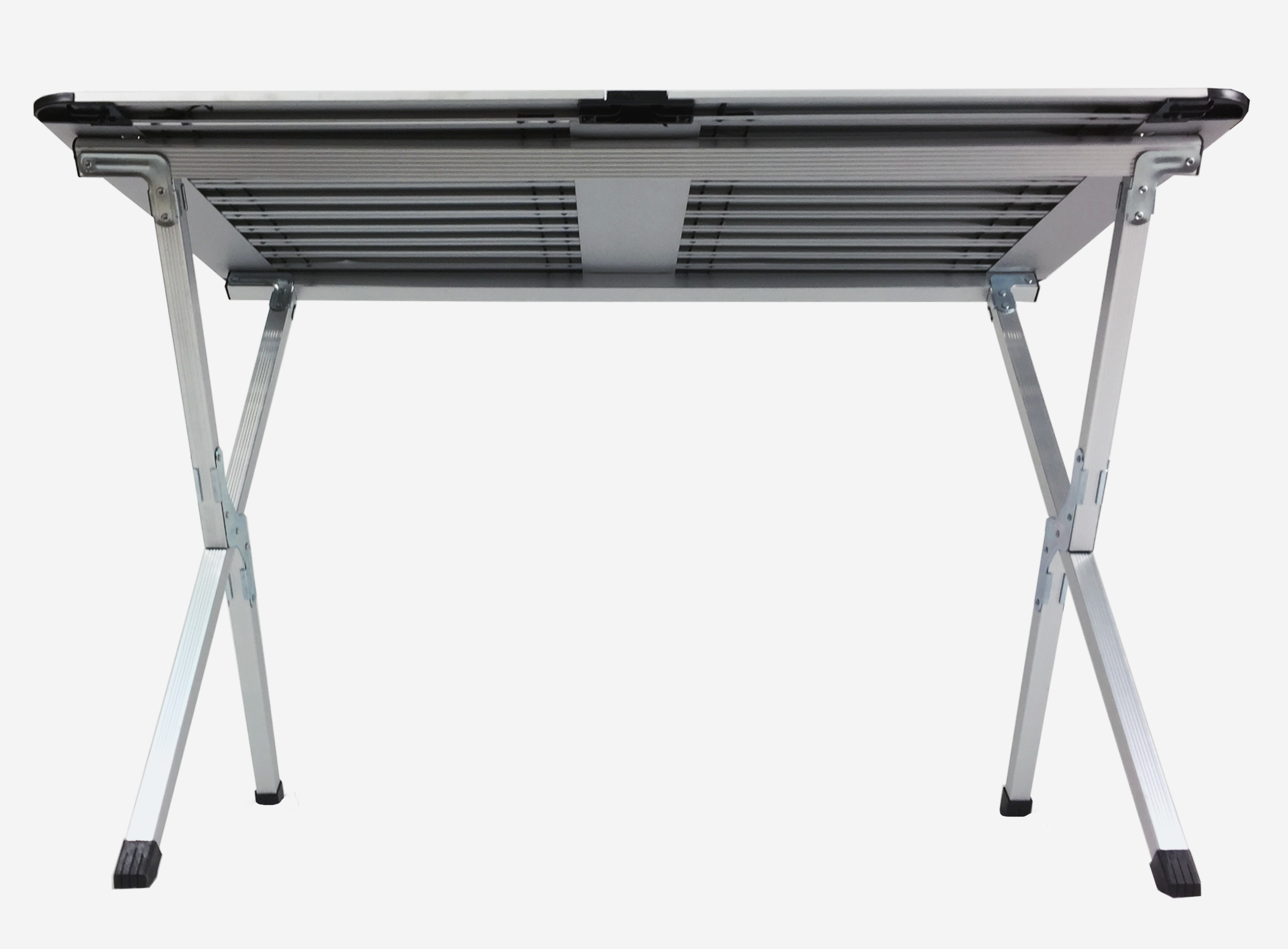 large roll up top aluminum table camp picnic portable carry bag silver 4 person ebay. Black Bedroom Furniture Sets. Home Design Ideas