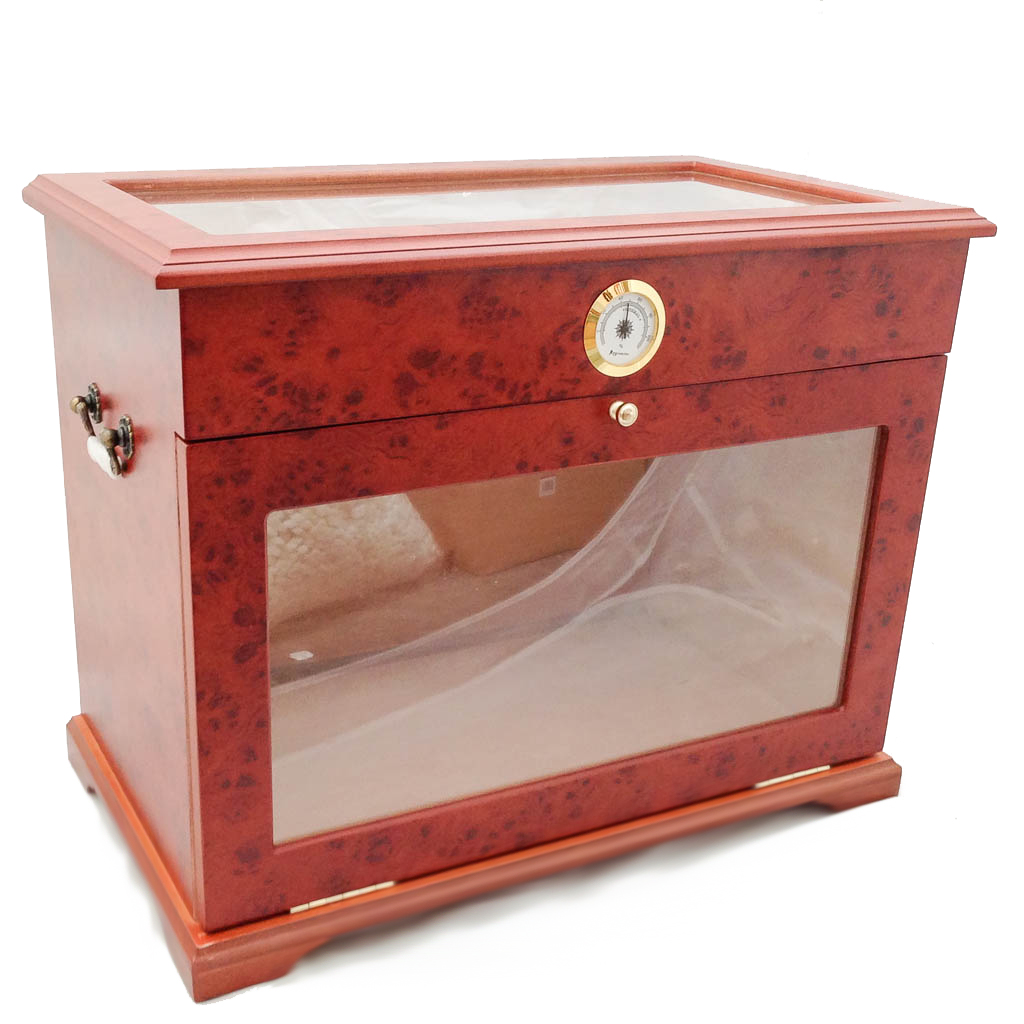 Superieur Details About 400 Ct CIGAR HUMIDOR DISPLAY CABINET END TABLE CASE BURLWOOD