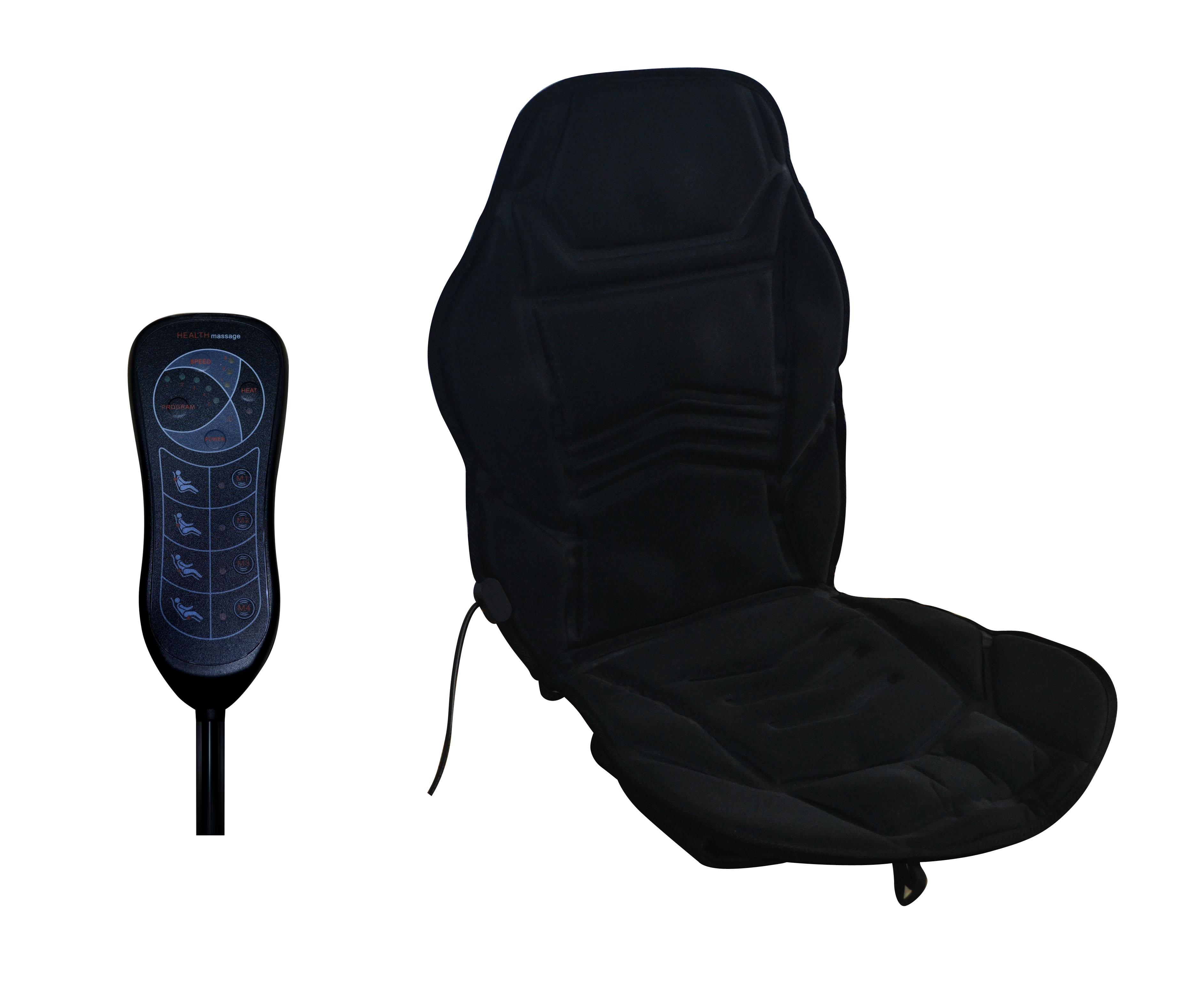 Vibration 10 Motor Full Body Massage Cushion Pad Neck Back Heat