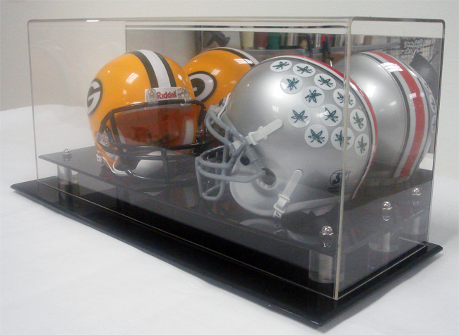 MINI FOOTBALL HELMET DISPLAY CASE BOX DOUBLE NFL NCAA | eBay