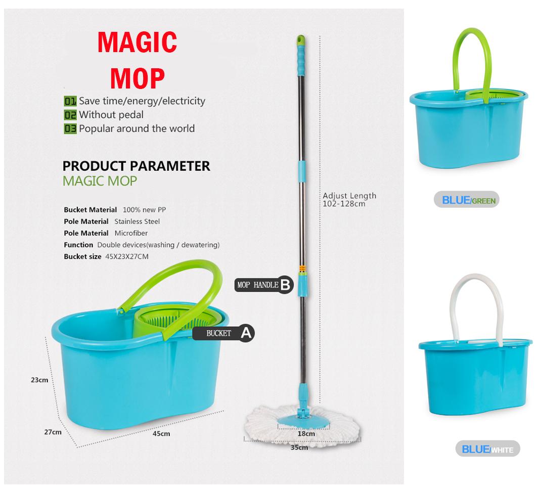 Easy Clean 360 Rotating Spin Magic Mop Micro Fiber Head