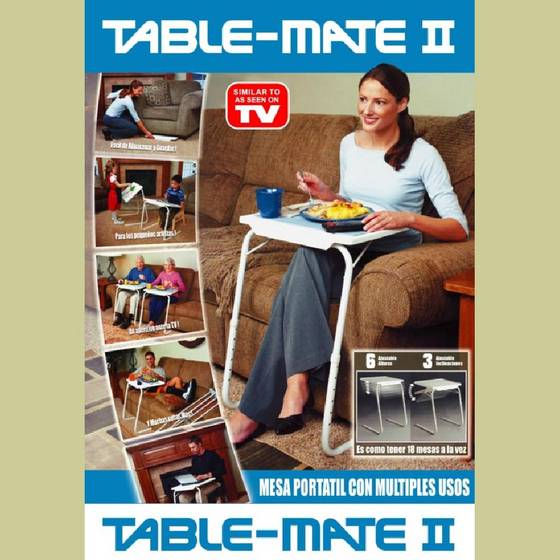4 SMART TABLE MATE FOLDABLE FOLDING TABLEMATE AS SEEN ON TV ADJUSTABLE TRAY